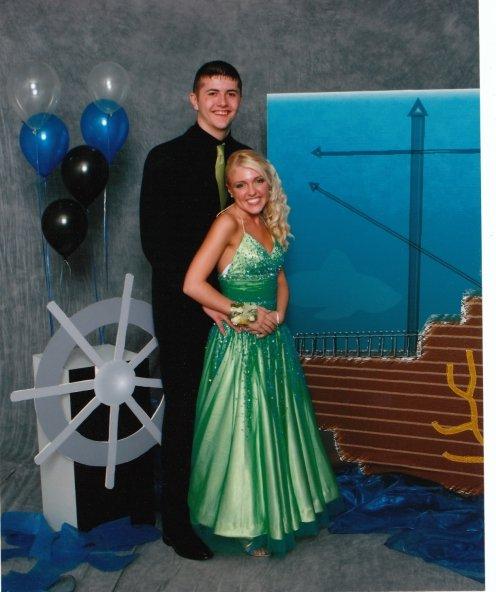 prom green dress